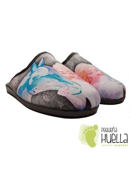 Zapatillas Frozen Casa para chicas de Invierno Zapy
