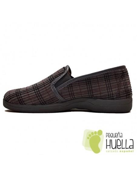 Zapatillas de cuadros para chico Ruiz y Gallego 600