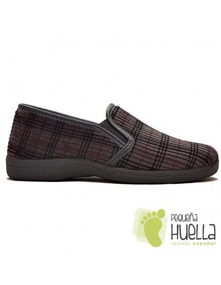 Zapatillas de cuadros para caballero Ruiz y Gallego 600