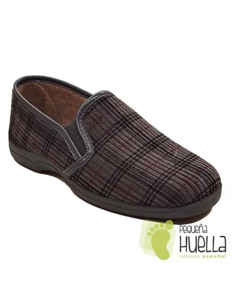 Zapatillas de cuadros para señor Ruiz y Gallego 600