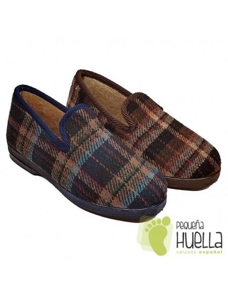 Zapatillas de cuadros para señor Cruan 600