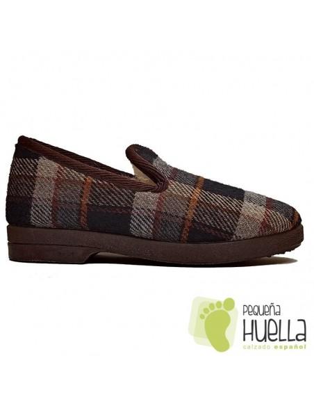 comprar Zapatillas de cuadros lana para Caballero CRUAN 660