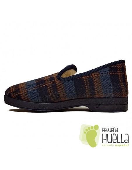 comprar Zapatillas de cuadros lana para Señor CRUAN 670 online