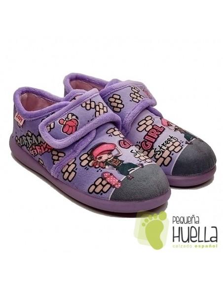 Zapatillas girl para chicas con Velcro Zapy