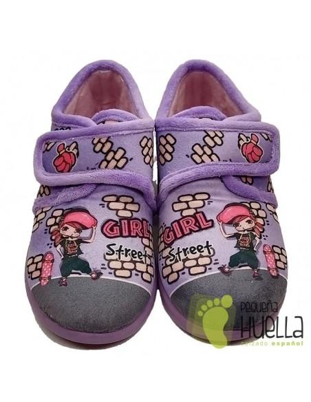 Zapatillas girl para chica con Velcro Zapy