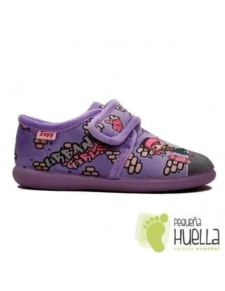 Zapatilla girl para chicas con Velcro Zapy