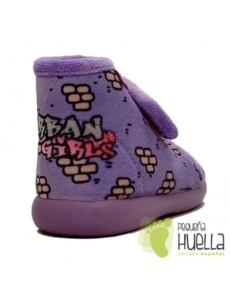 Zapatillas lilas de casa girl para chicas Zapy