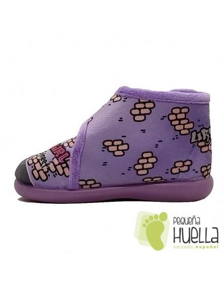 Zapatillas lilas de casa girl para Niñas Zapy