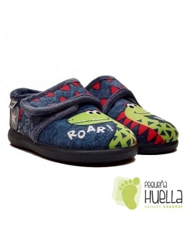 Zapatillas de Dinosaurios para niños con Velcro Zapy