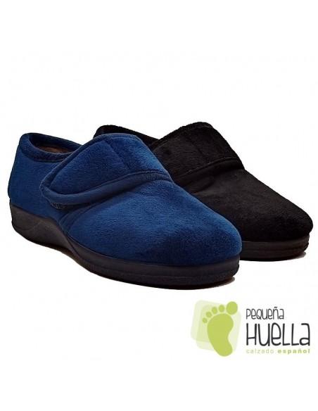 Zapatillas negras señora Ruiz y Gallego 870