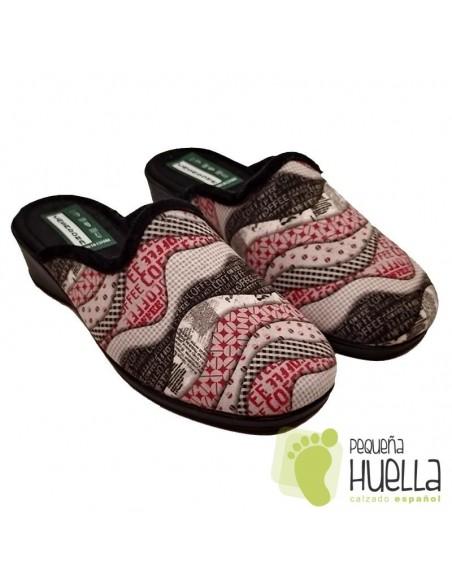 Zapatillas con cuña mujer CASA DONA 082