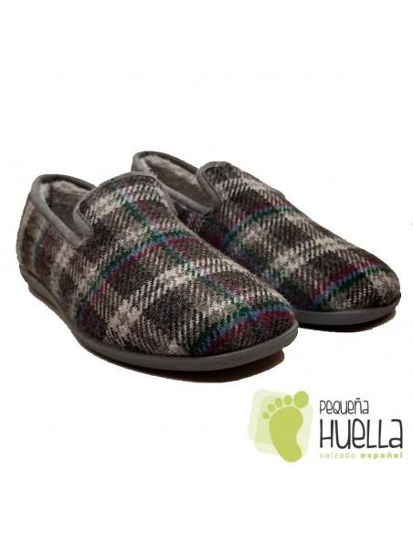 Zapatillas hombre cuadros CASA DONA 026