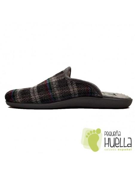 Zapatillas para señor de cuadros CASA DONA 013
