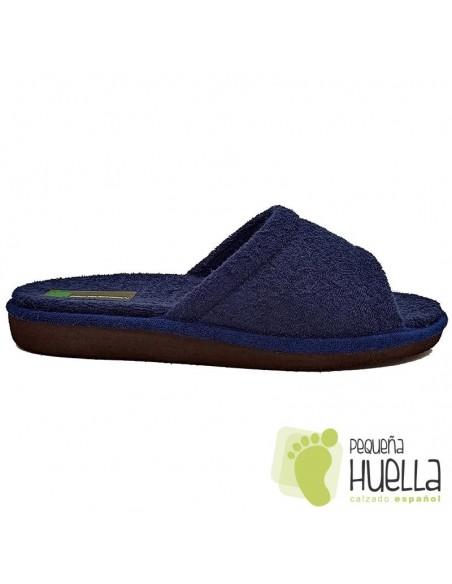 Zapatillas Ergonómicas para Casa Verano hombre toalla azul marino , Misszapatillas 120