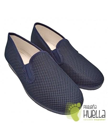 Zapatillas mujer rejilla azules Cesmony 07R
