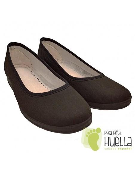 Zapatillas de algodón negras para chica hogar Cesmony 14S
