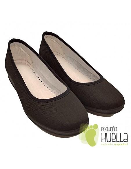 Zapatillas para uniforme negras de hogar Cesmony 14S