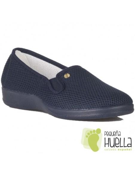 Zapatillas rejilla azules señora Ruiz y Gallego 924