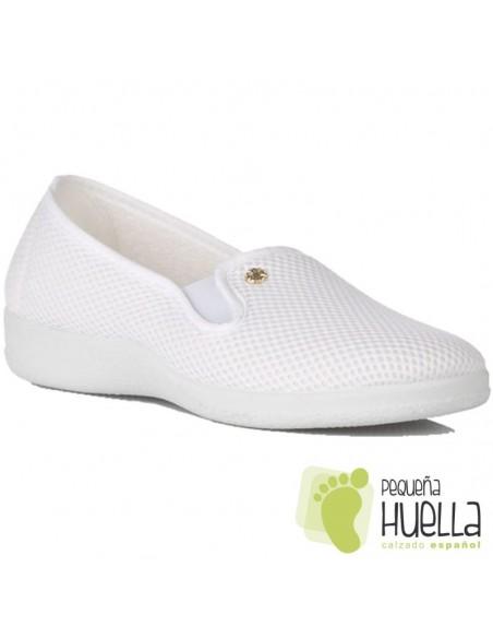 Zapatillas blancas rejilla señora Ruiz y Gallego 924