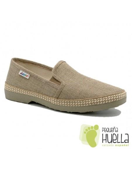 Zapatos de tela beige Javer 501