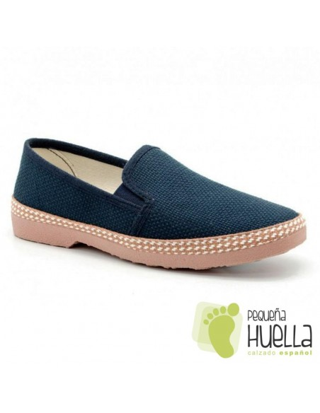 Zapatos de tela azules Javer 501
