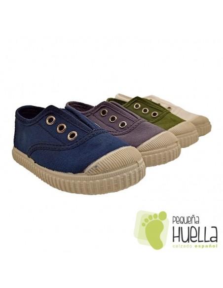 Zapatillas con elástico Lona Laro