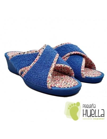 Zapatillas de Rizo Abierta y Cruzada Rizo para Mujer J. Ortega 3201
