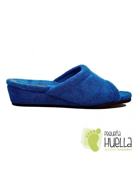 Zapatillas de toalla azulón Mujer Misszapatillas