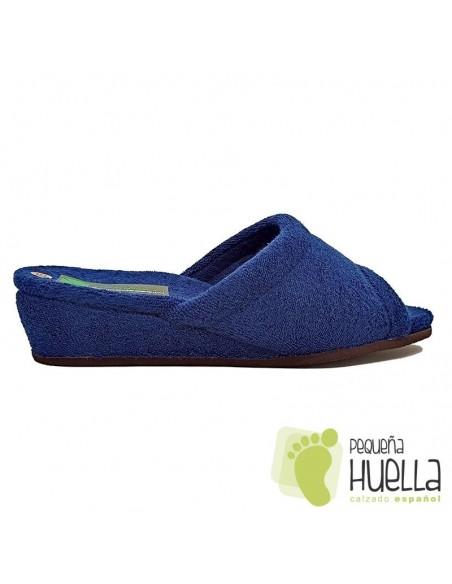 Zapatillas de toalla azul marino Mujer Misszapatillas