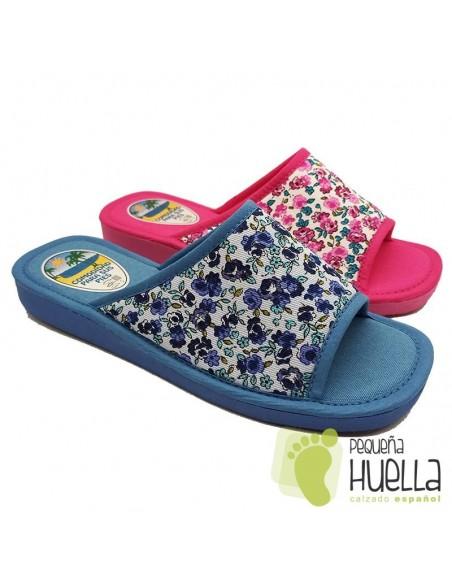 Zapatillas de flores para casa de chicas Berevere V7041