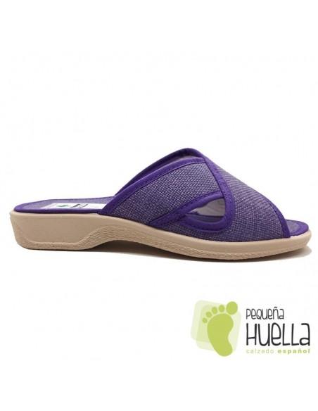 Zapatillas anatómicas cruzadas de mujer / PERCLA 4222