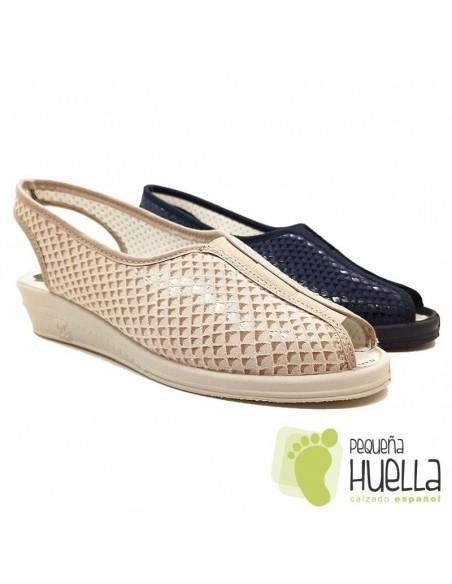 Sandalias señora azules Doctor Cutillas 9821
