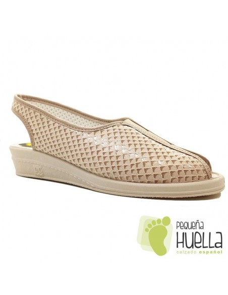 Sandalias señora beige Doctor Cutillas 9821