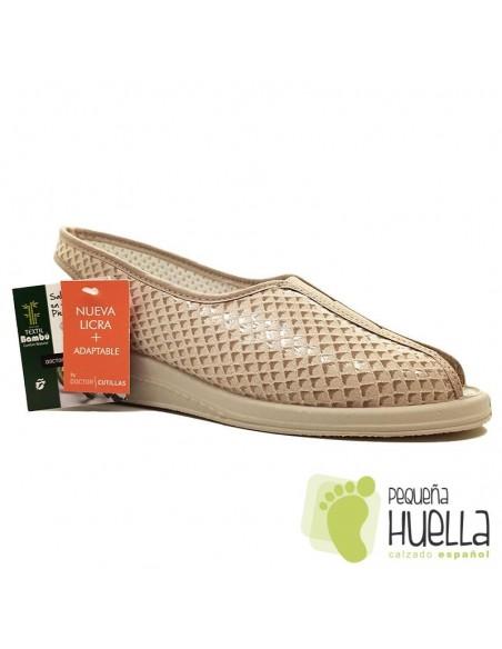 Sandalias beige para señora Doctor Cutillas 9821
