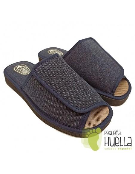 Zapatillas de hombre con velcro Ruiz y Gallego 380