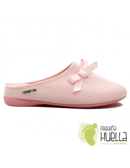 Zapatillas rosas mujer casa Cosdam 0532
