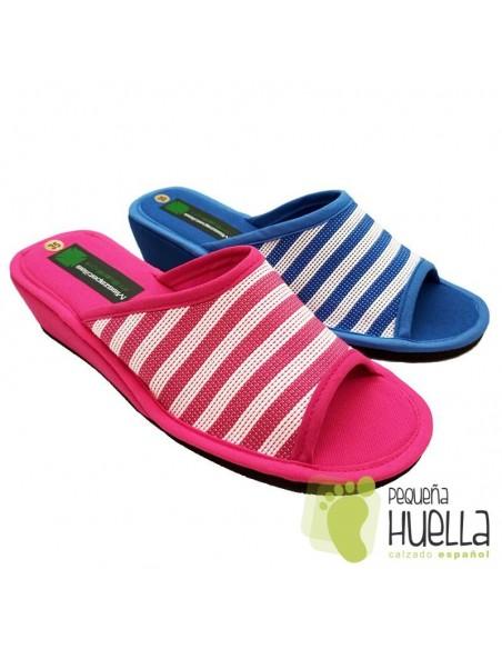 Zapatillas de casa para Mujer con cuña Misszapatillas 360