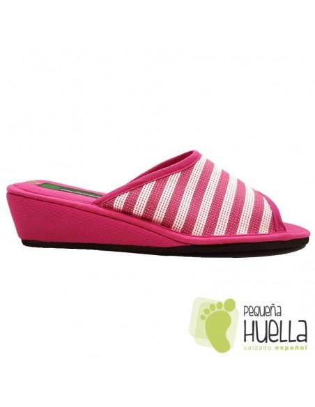 Zapatillas rosas de casa para Mujer ergonómicas Misszapatillas 360