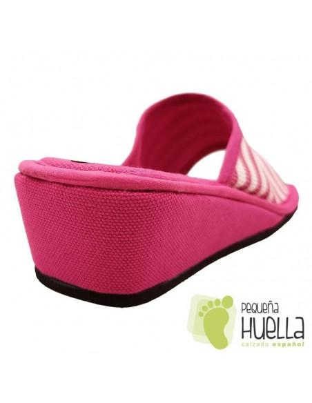 Zapatillas de casa con cuña para Mujer ergonómicas Misszapatillas 360