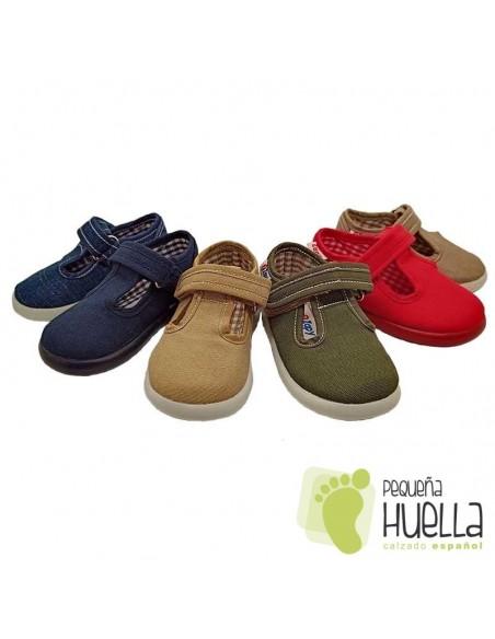 Pepitos Sandalias de tela para bebes, niños y niñas ZAPY 162