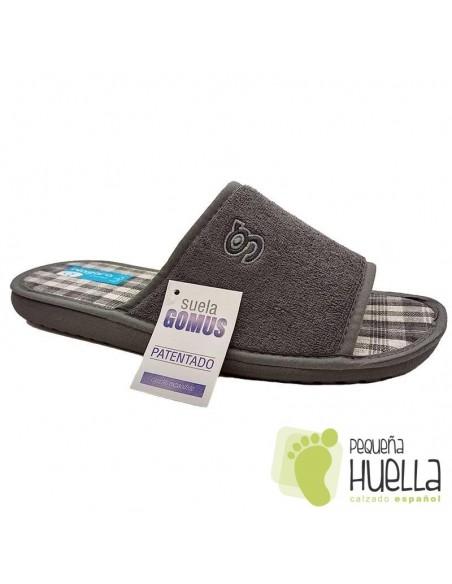 Zapatillas toalla grises hombre Niagara 689