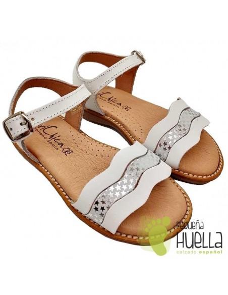 Sandalia Piel para niñas Marichica 423