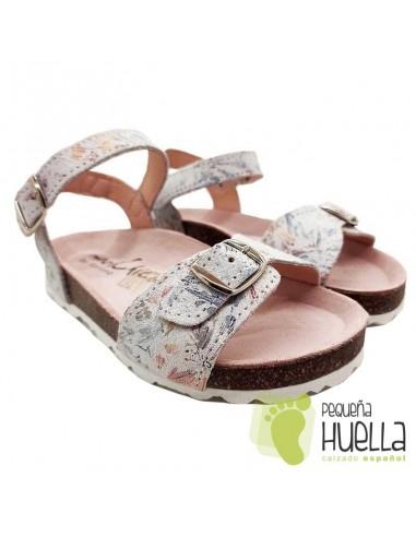 Sandalia Piel para niñas Marichica 524