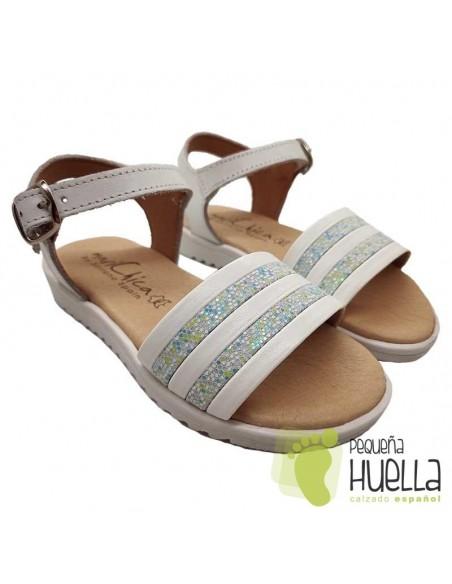 Sandalia Piel para niñas Marichica 447