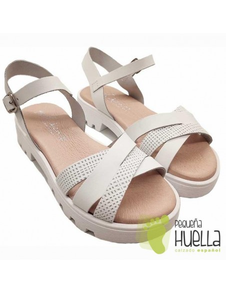 Sandalia Piel para niñas Marichica 498
