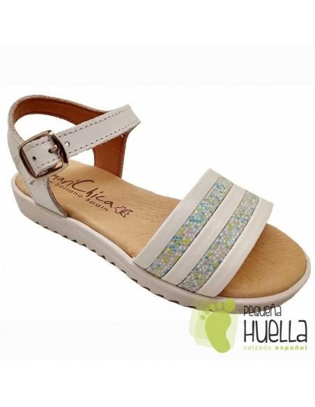 Sandalias Piel para niñas Marichica 447