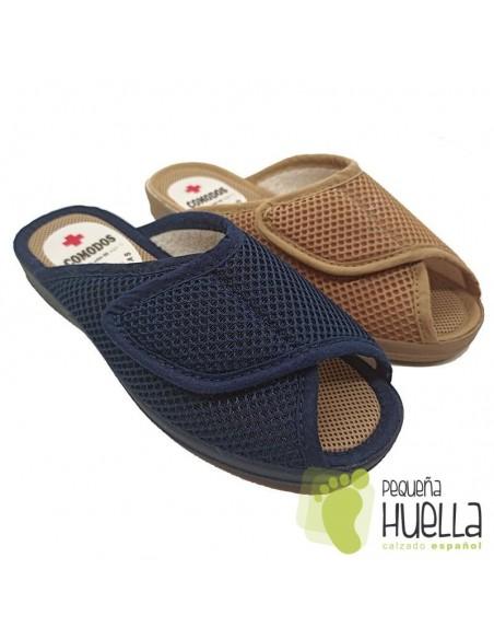 Zapatillas mujer abiertas con velcro Ruiz y Gallego 945