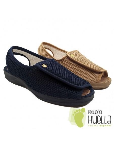 Zapatillas señora abiertas con velcro Ruiz y Gallego 970