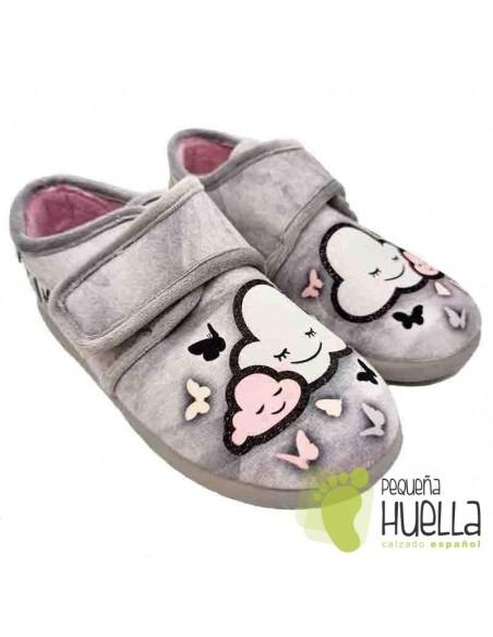 Zapatillas nubes y mariposas para chicas con Velcro Zapy Z10560