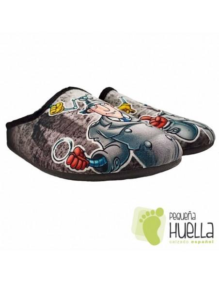 Zapatillas de casa para chico inspector Gadget J. Ortega V267
